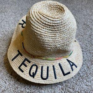 unbranded Accessories - Tequila Por Favor Sun Straw Hat Wide Large Brim